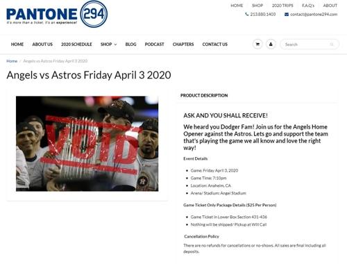 분노한 MLB 다저스 팬, 에인절스 홈 개막전서 휴스턴 집단 야유