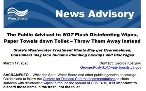 미국 화장지 사재기 여파…하수처리 시스템 경고음