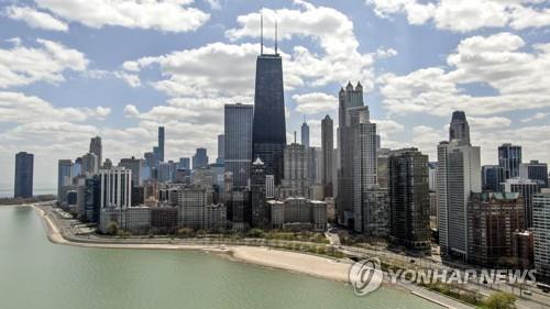 미 시카고 코로나19 재확산 15개주서 오면 14일 자가격리