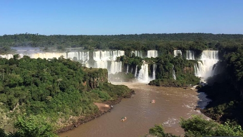 세계 7대 자연경관 브라질 이과수 국립공원 4개월만에 개장