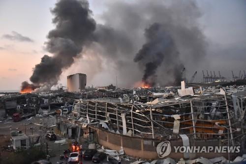 레바논 베이루트서 초대형 폭발로 수백명 사상…핵폭발 같았다(종합2보)