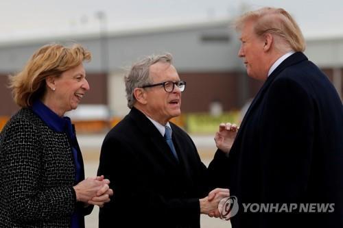 트럼프, 오하이오 방문날에…주지사는 코로나19 양성반응