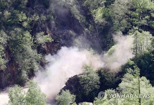 북한 풍계리 핵실험장, 태풍으로 도로·다리 심각한 파손