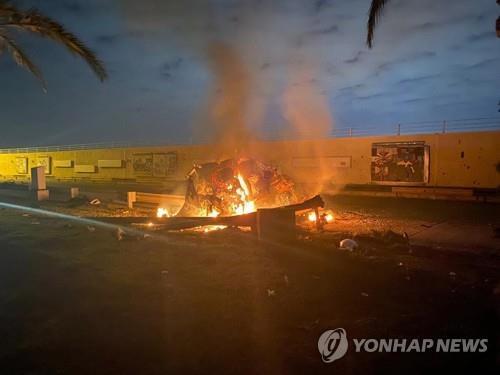 바그다드 공항 노린 로켓…민가에 떨어져 5명 사망