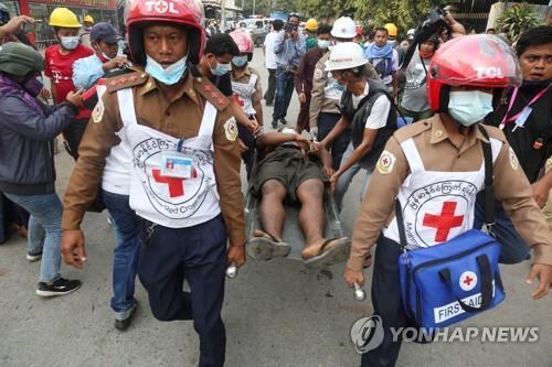 미얀마 유혈사태 악화일로…쿠데타 이후 4명 사망·100여명 부상(종합2보)