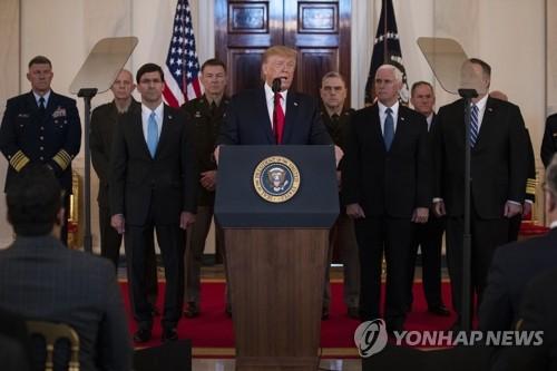 트럼프 즉각적 대이란 강력 추가제재…군사력 사용 원치 않아(종합2보)