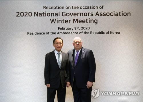 미국 주지사들, 주미대사관저에서 한자리…한국 사위가 제안