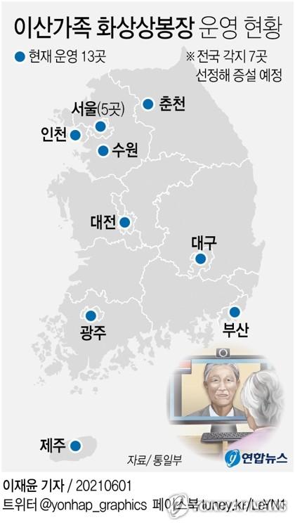 离散家属视频团聚设施增设地 韩联社