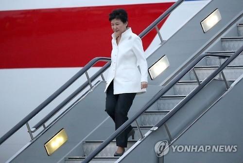 朴槿惠抵达杭州 将会晤习近平或谈朝核萨德问题