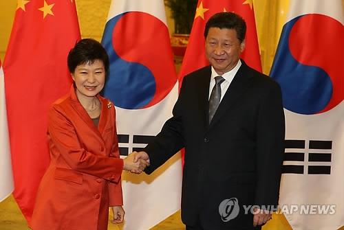 韩中领导人明日将举行双边会谈