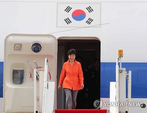 朴槿惠抵达老挝 即将会晤奥巴马