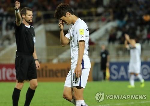 世预赛亚洲区12强赛韩国叙利亚0比0战平