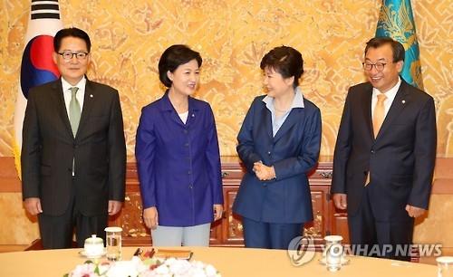 朴槿惠接见三大党领导人谈朝核