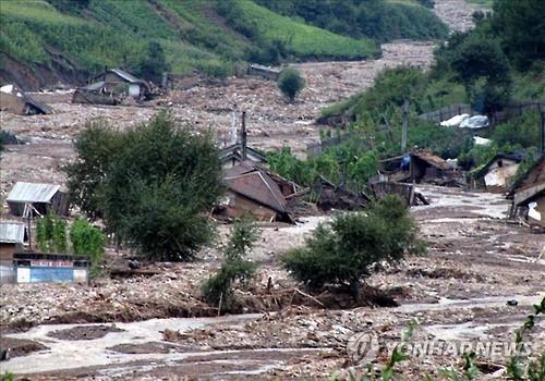 韩民间团体赈济朝鲜水灾项目停摆
