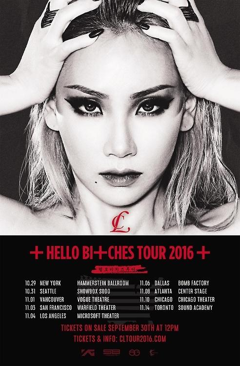 韩歌手CL将在北美9大城市开唱