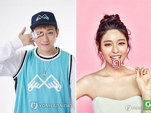 """""""偶像情侣""""ZICO雪炫公开恋情仅一个月便分手"""