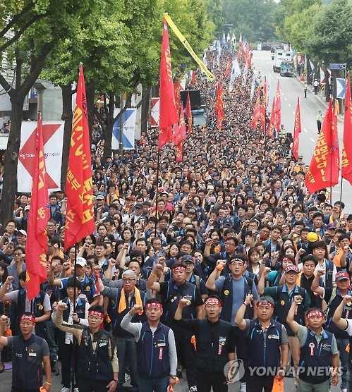 韩铁道公社实施应急预案应对罢工 高铁正常运行