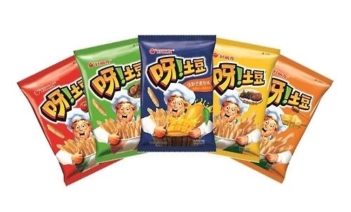 """韩零食""""呀!土豆""""创在华销售最快破12亿元纪录"""