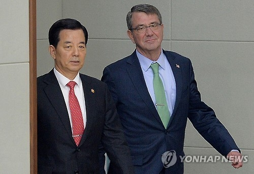 韩美防长将开会商讨加强美对韩延伸威慑力