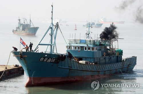 在韩西部海域非法捕捞中国渔船同比大减