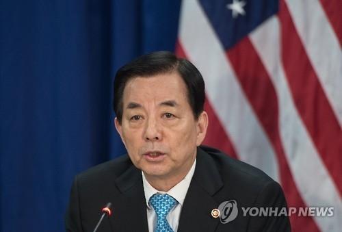 韩国防长韩民求(韩联社)