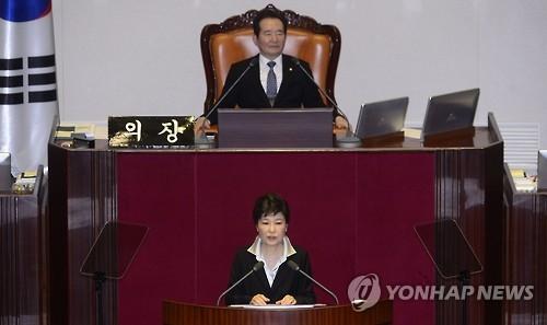 简讯:朴槿惠呼吁国会期内处理明年预算案