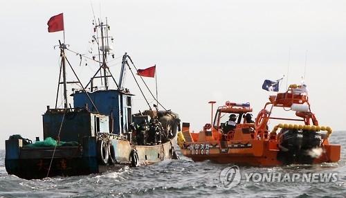 韩渔政船带口译对中国渔船执法省时一半