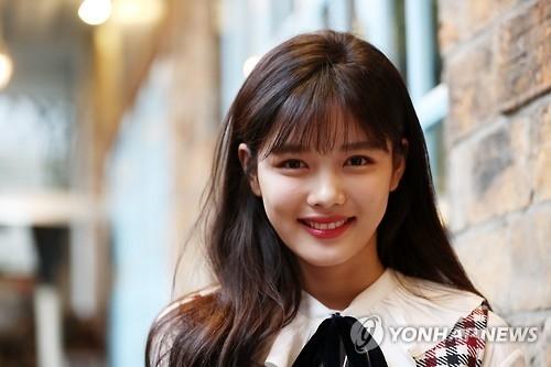 10月31日下午,在首尔市钟路区一家咖啡厅,金裕贞接受采访。(韩联社)