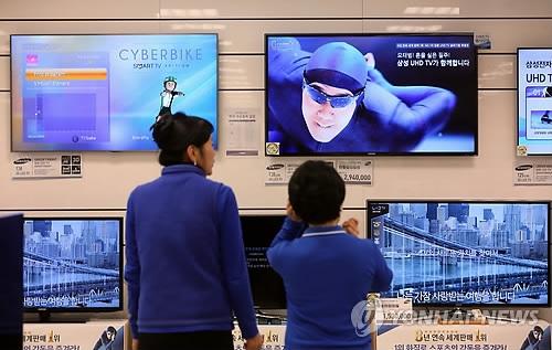韩大屏电视价跌 60吋以上份额两年增6倍