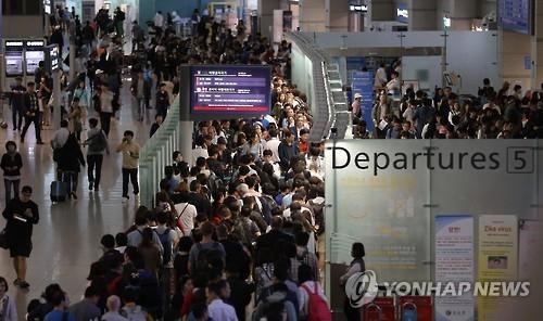 韩国人今年第三季境外旅游消费额首破60亿美元