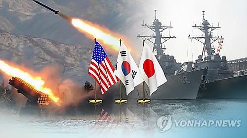 韩美日今明再练导弹预警共抗朝核威胁