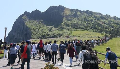 济州道今年接待游客有望破1500万 提前2年完成目标