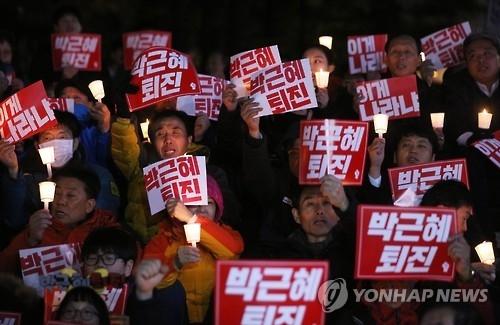 韩青瓦台密切关注民众明日第三轮烛光集会