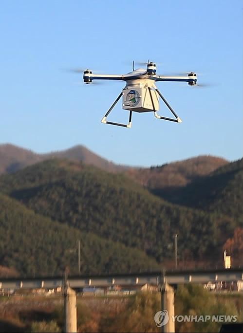 韩开展无人机货运测验 无人机商业化应用提速