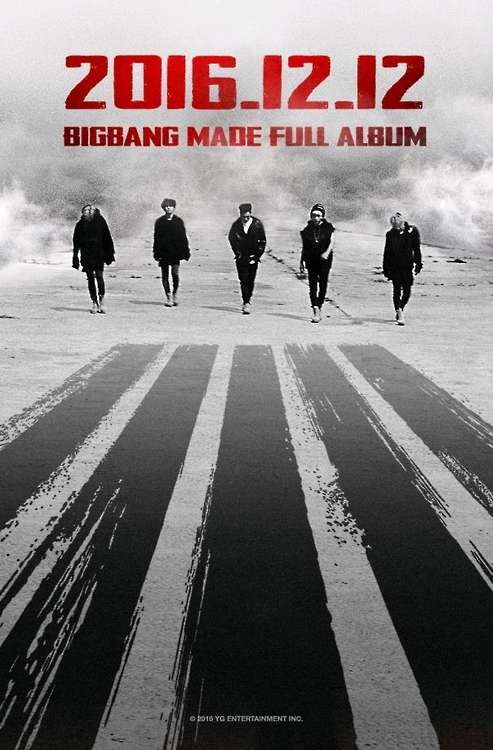资料图片:男团BIGBANG回归预告照(YG娱乐提供)