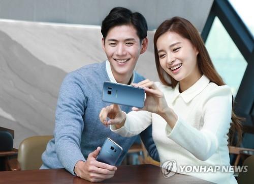 三星Galaxy S7 Edge珊瑚蓝版64GB款在韩面市
