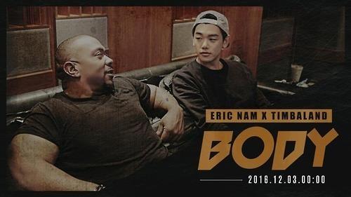 Eric Nam新歌《BODY》即将发布 知名制作人提姆巴兰跨刀