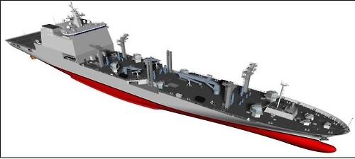 """韩军首艘万吨级补给舰""""昭阳""""号下水"""