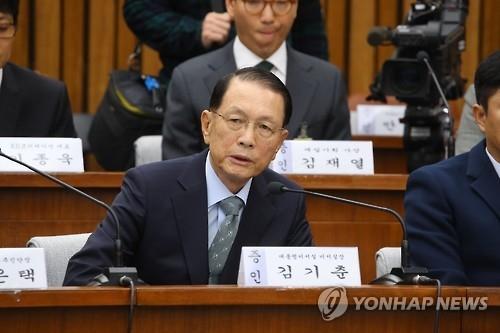 韩前幕僚长出席亲信门听证会 致歉同时否认质疑