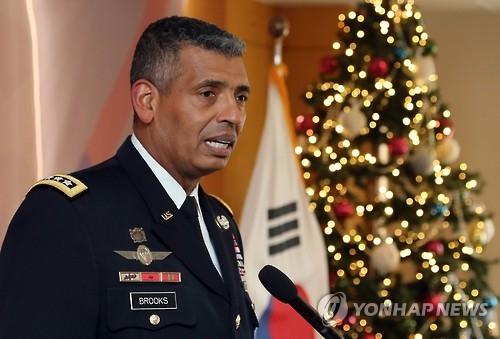 驻韩美军司令文森特•布鲁克斯(韩联社)