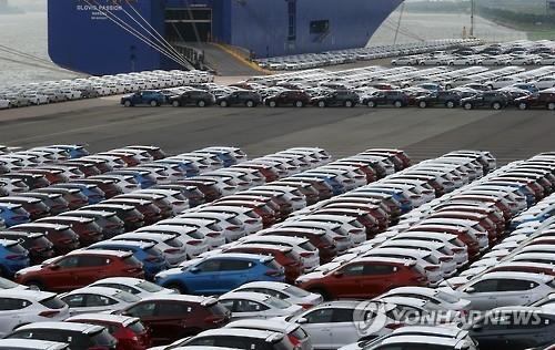 韩汽车出口时隔17个月止跌回升