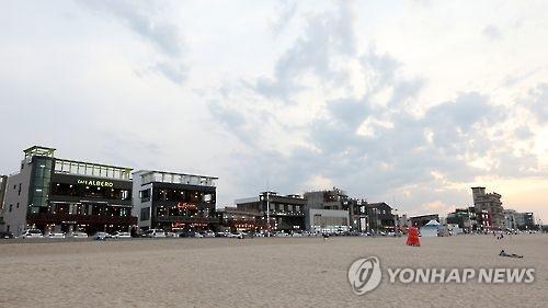 资料图片:江陵咖啡之街(韩联社)
