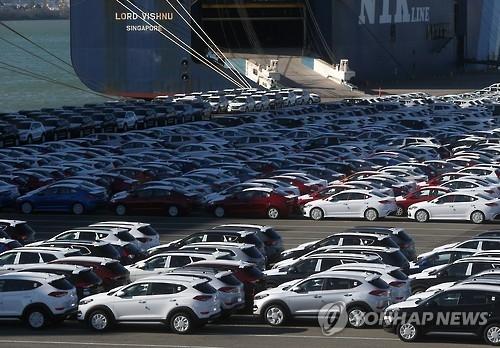 韩国产汽车连续两年出口额下滑