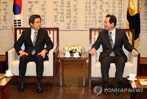 韩代总统会见国会议长称将听取民意加强沟通