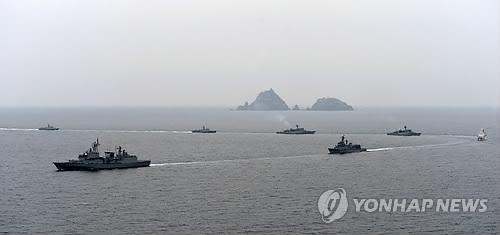 韩海军在东部海域启动独岛防御演习