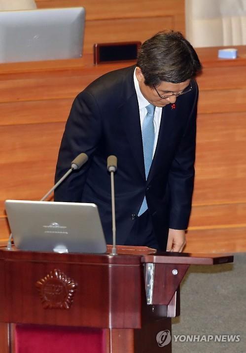 """韩代总统:辅佐总统失当 但不是亲信门""""共犯"""""""
