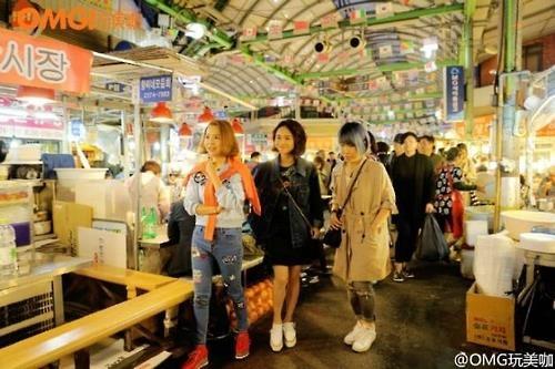 植入首尔游广告的中国电视节目观看次数超15亿