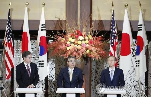韩美日下月在美举行副外长级会议