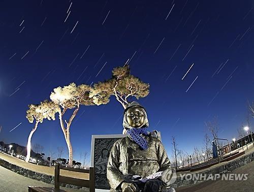 资料图片:慰安妇和平少女像(韩联社)