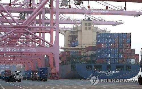 详讯:韩2016年出口额降5.9% 58年来首次连降两年